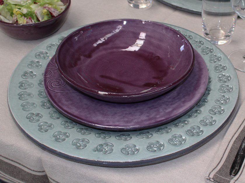 Ceramic plates set OT07026   Plates set by Cerasarda