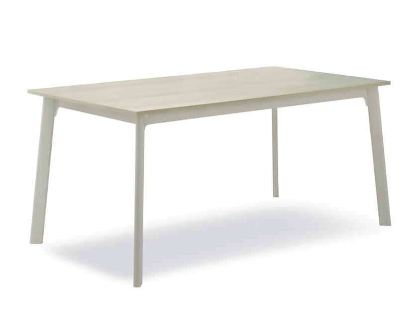 Extending rectangular wood veneer table OTELLO BASIC by Pointhouse