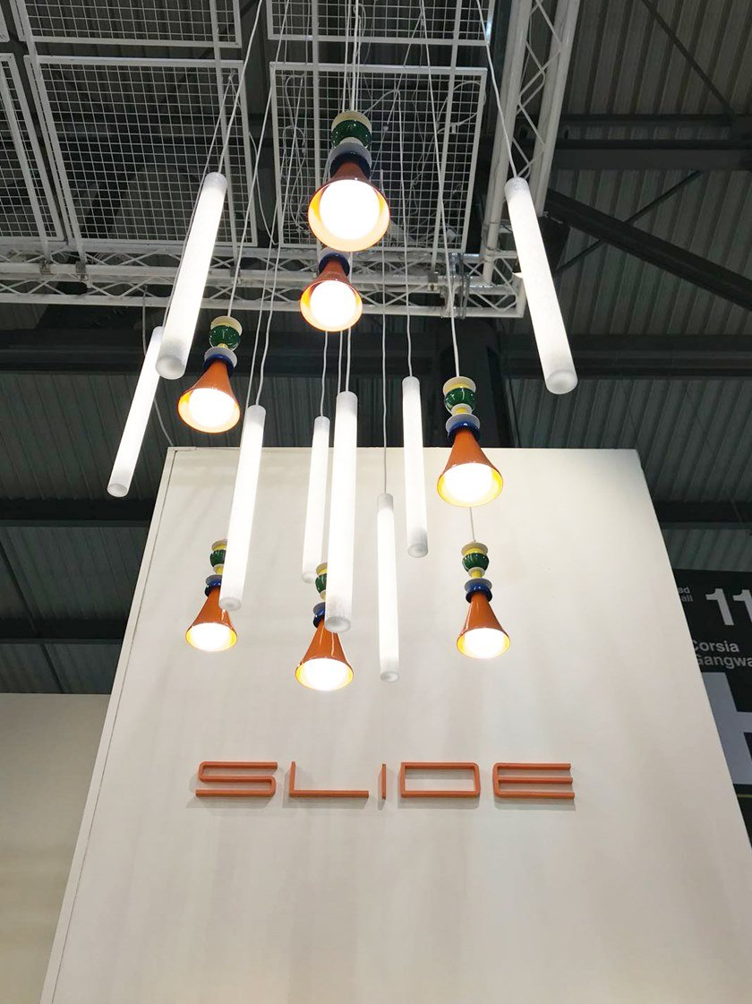 Aluminium pendant lamp OTELLO HANGING by SLIDE