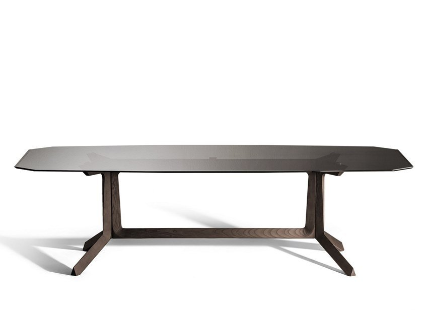 Rectangular glass living room table OTHELLO | Glass table by Poltrona Frau