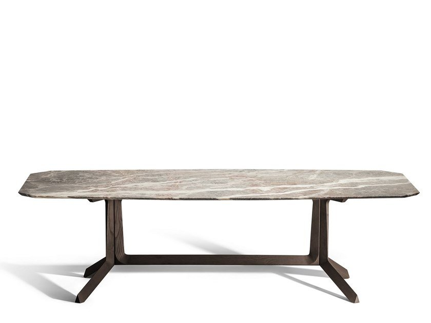 Rectangular marble living room table OTHELLO | Rectangular table by Poltrona Frau