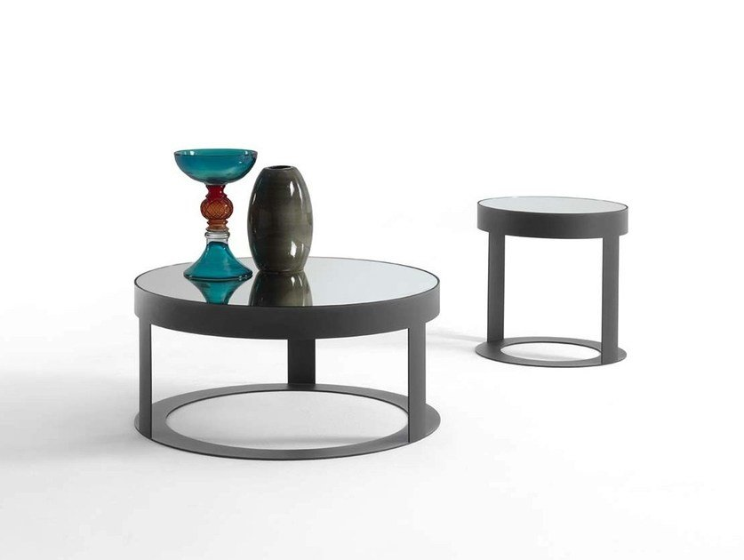 Round metal coffee table OTIS | Round coffee table by Frigerio Salotti