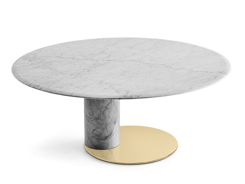 Oval Carrara marble table OTO BIG by Gallotti&Radice