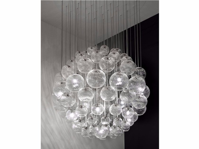Blown glass pendant lamp OTO SP SPH by Vetreria Vistosi