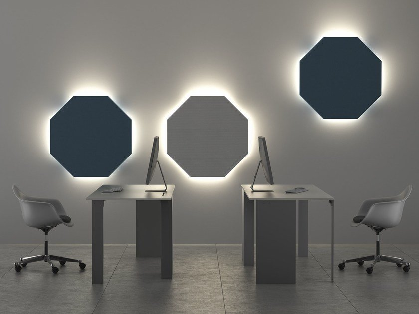 Felt decorative acoustical panel with Integrated Lighting OTTAVA | Decorative acoustical panel with Integrated Lighting by LvB Acoustics