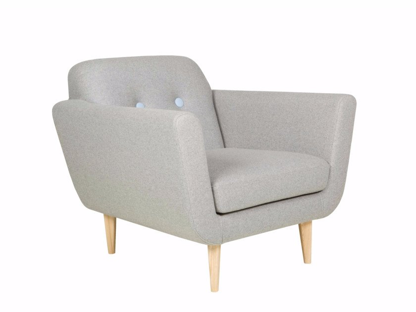 Tufted upholstered fabric armchair with armrests OTTO | Armchair by SITS