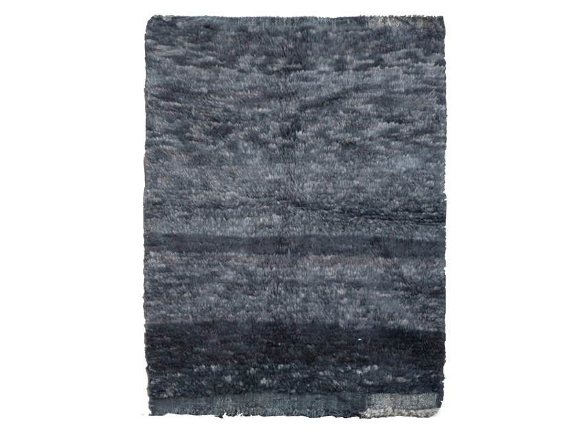 Long pile rectangular wool rug OUEDZEM TA783BE by AFOLKI