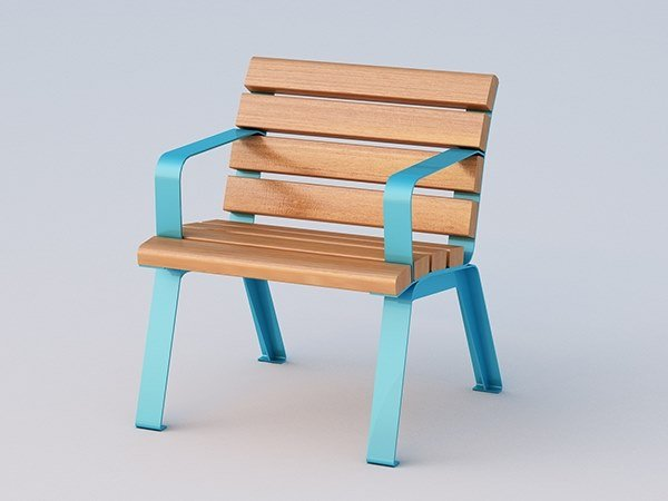 Okumè outdoor chair BETTY | Outdoor chair by DIMCAR