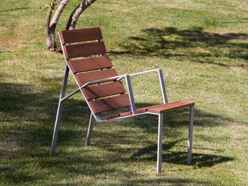 Seduta da esterni in legno HARPO | Seduta da esterni by URBIDERMIS