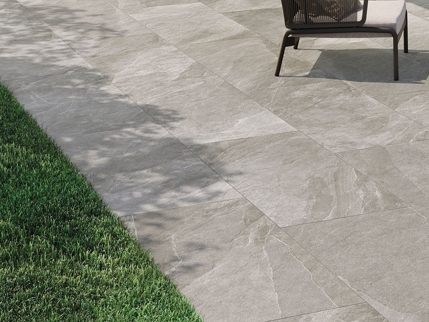 Porcelain stoneware outdoor floor tiles with stone effect SHALE | Outdoor floor tiles by Italgraniti