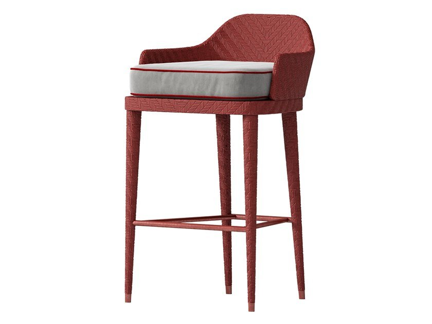 High wooden and fabric stool OUTDOOR | Stool by CPRN HOMOOD
