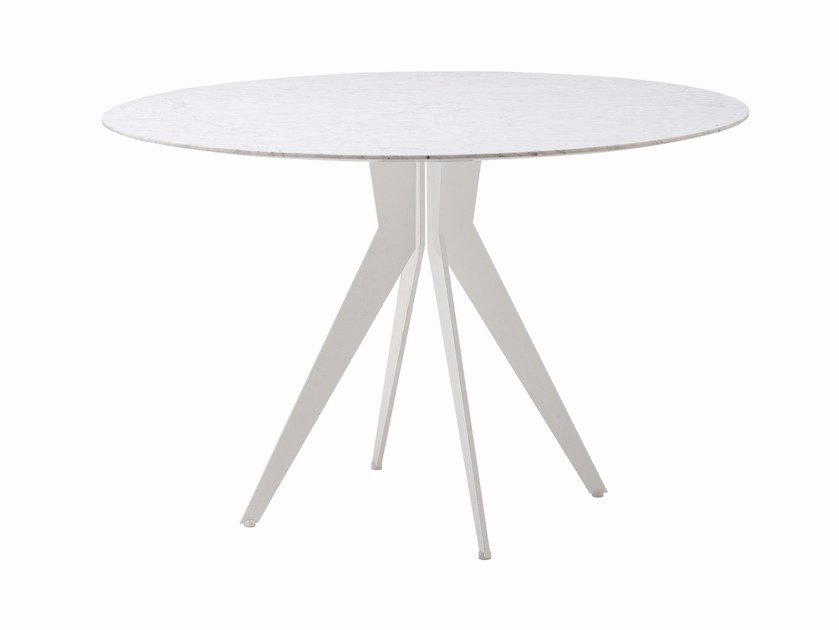 Round steel table OUTLINE | Round table by Cizeta L'Abbate