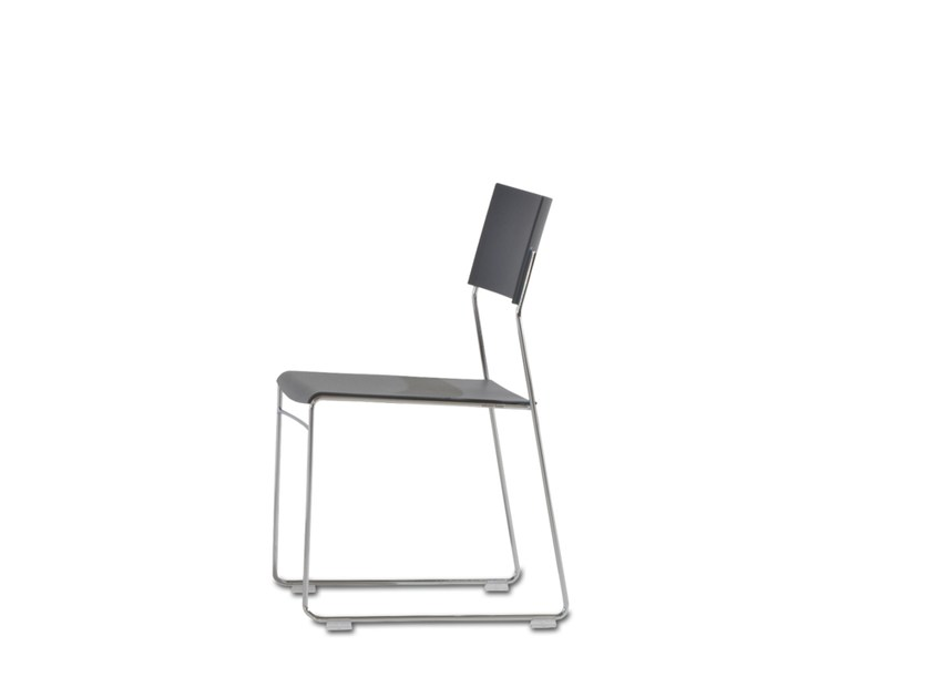 Sled base stackable plastic training chair OUTLINE | Stackable training chair by Wiesner-Hager