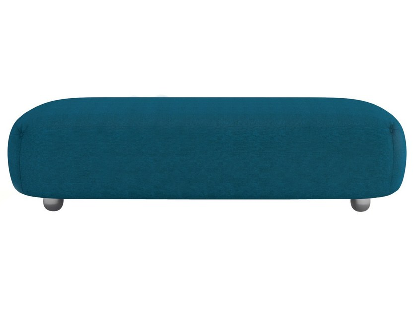 Backless fabric bench seating OUVERTURE   Backless bench seating by Maletti