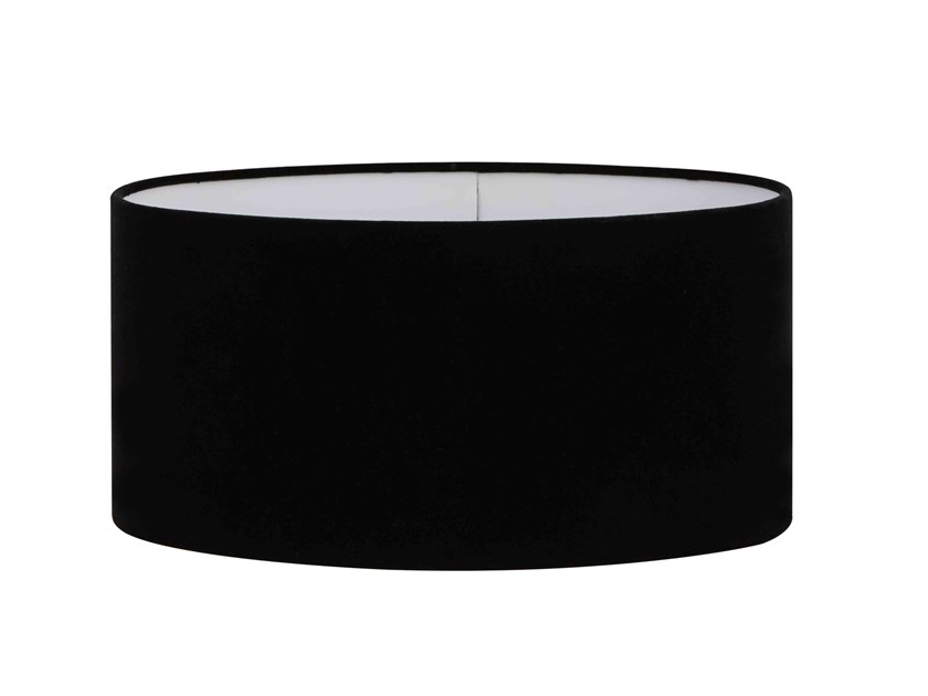 Fabric lampshade OVAL BLACK VELVET | Lampshade by Vista Alegre