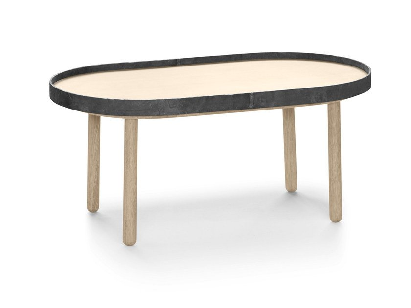 Oval wooden coffee table EGON | Oval coffee table by ALKI