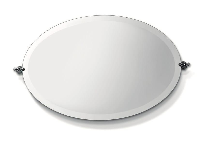 Tilting oval bathroom mirror CIRCLE | Oval mirror by BATH&BATH