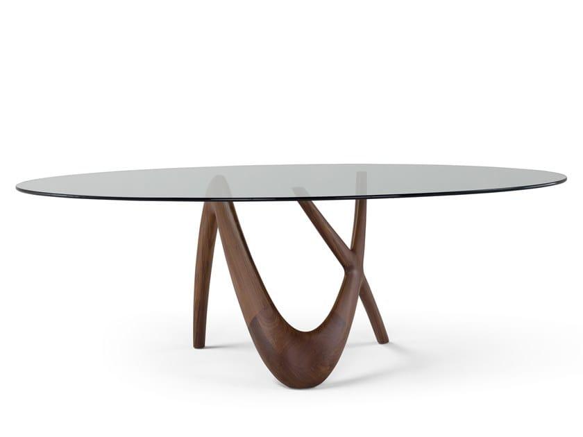 Tavolo Ovale In Legno E Vetro Nx Tavolo Ovale Collezione Nx By Amura Design Stefano Bigi