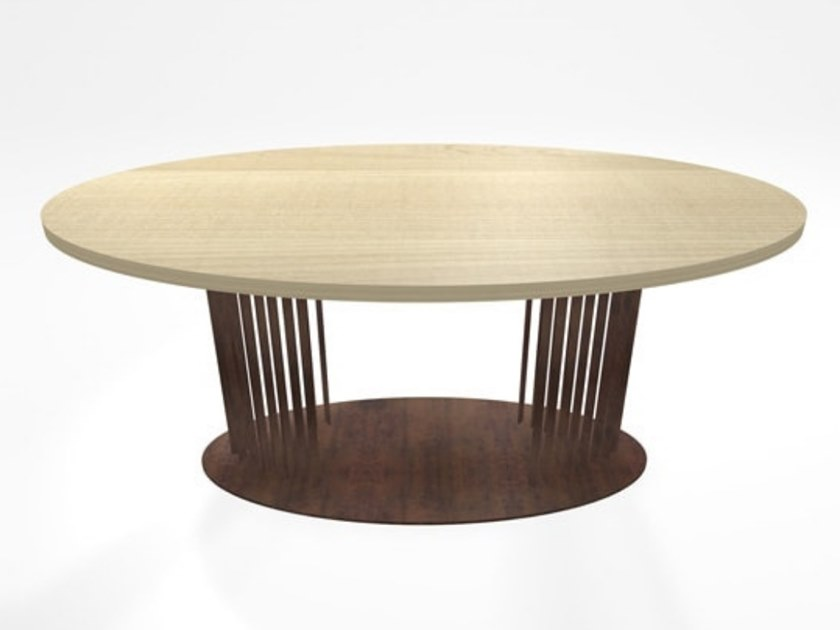 Oval Corten™ table OVOV | Oval table by TrackDesign