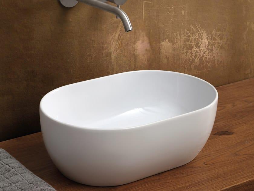Countertop oval ceramic washbasin UNICA   Oval washbasin by Alice Ceramica