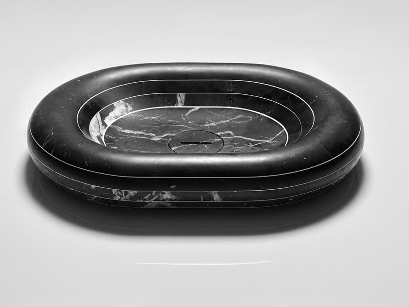 Lavabo da appoggio ovale in marmo RIGATI | Lavabo ovale by Antonio Lupi Design