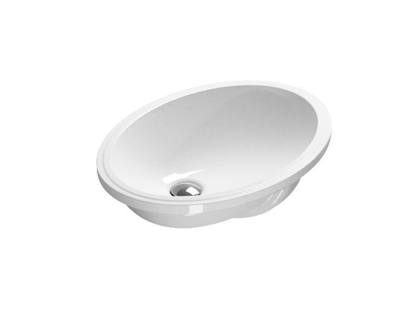 Undermount oval ceramic washbasin Oval washbasin by CERAMICA CATALANO