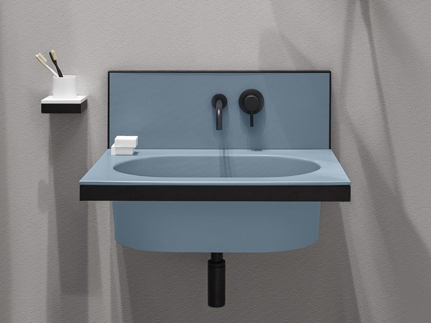 Oval single wall-mounted ceramic washbasin ELLE | Oval washbasin by Ceramica Cielo