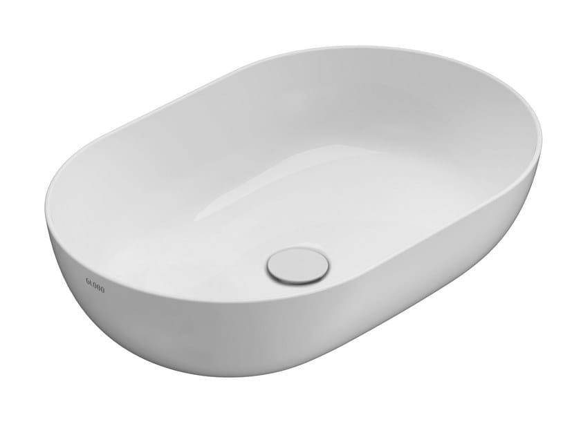 Countertop oval ceramic washbasin T-EDGE | Oval washbasin by Ceramica Globo