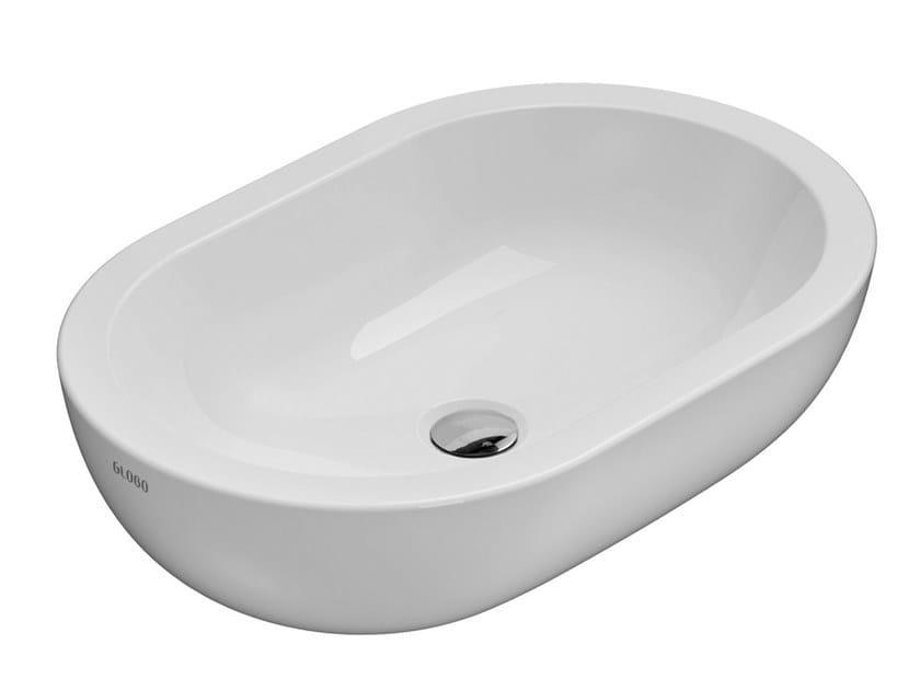Lavabo da appoggio ovale in ceramica FORTY3 | Lavabo ovale by Ceramica Globo