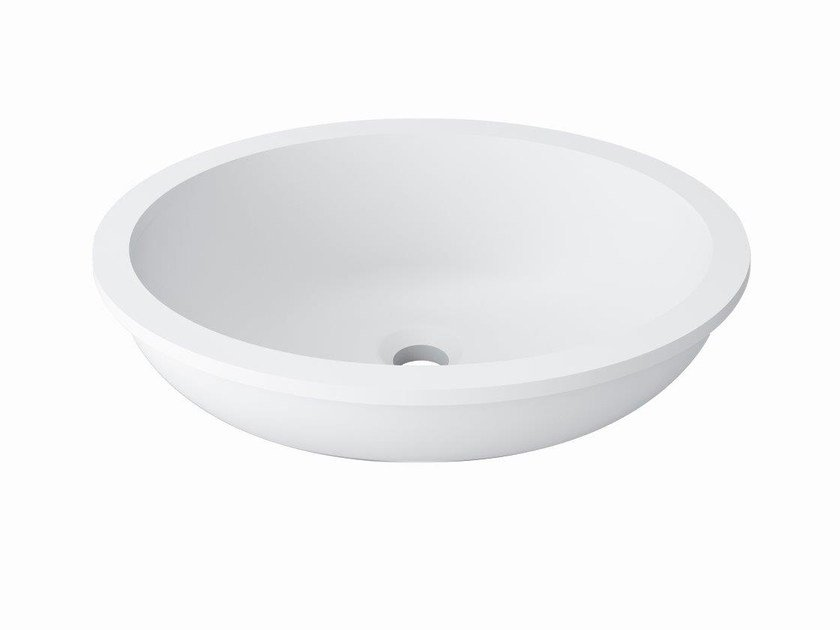 Undermount oval Krion® washbasin BASIC | Oval washbasin by Systempool