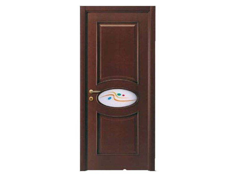 Hinged wood veneer door OVALE | Glass door by NUSCO  sc 1 st  Archiproducts & OVALE | Glass door Decorated glass Collection By NUSCO design ...