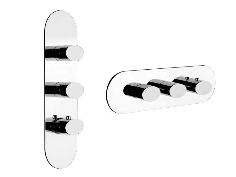3 hole thermostatic shower mixer OVALE WELLNESS 43044 by Gessi