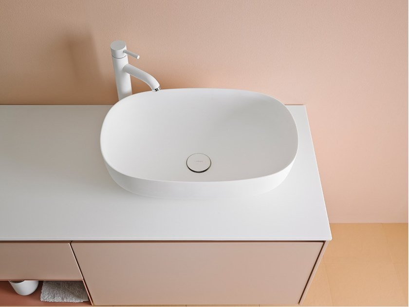 Oval Corian® washbasin OVALO | Oval washbasin by INBANI