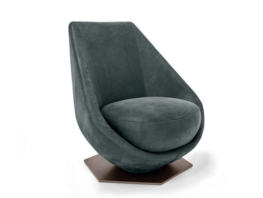 Swivel fabric armchair OVERDRIVE | Swivel armchair by Arketipo