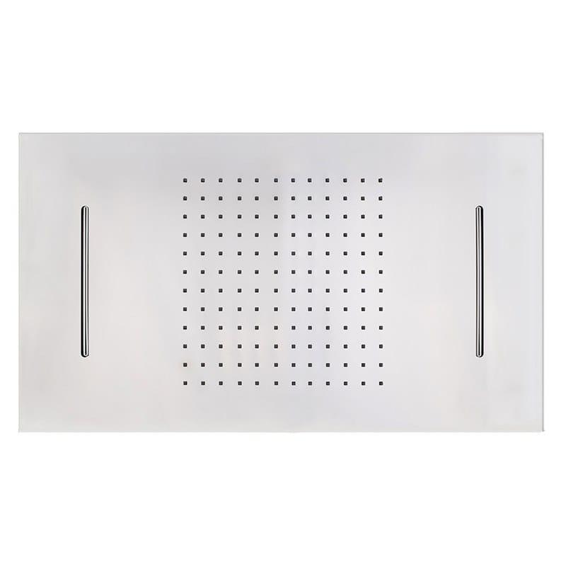 Built-in rectangular stainless steel overhead shower FIAD80698   Overhead shower by GUGLIELMI