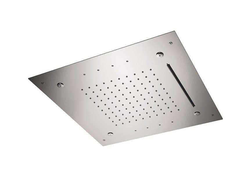 Built-in steel rain shower OVERHEAD SHOWERS FOR CHROMOTHERAPY | Built-in overhead shower by newform