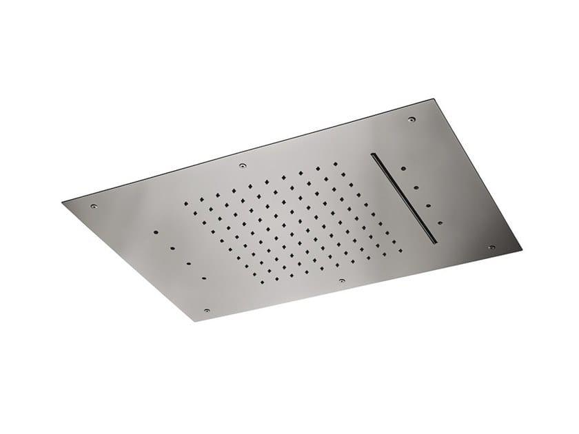 2-spray steel overhead shower OVERHEAD SHOWERS FOR CHROMOTHERAPY | 2-spray overhead shower by newform