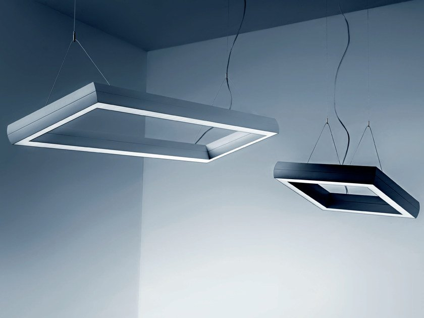LED direct light extruded aluminium pendant lamp OVO Q | Pendant lamp by Plexiform
