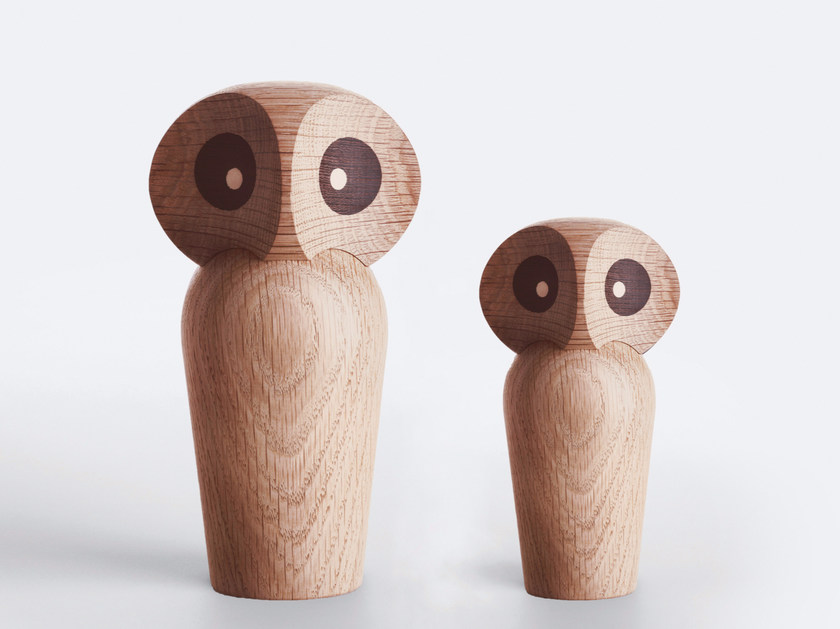 Oak decorative object / game OWL by Architectmade