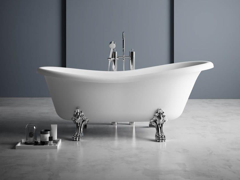 Vasca da bagno centro stanza ovale in Kstone su piedi OXFORD by Karol
