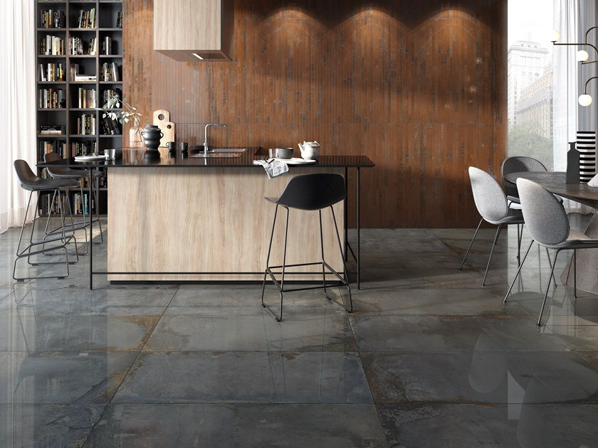 Wall/floor tiles with metal effect OXYD by Ceramica Rondine