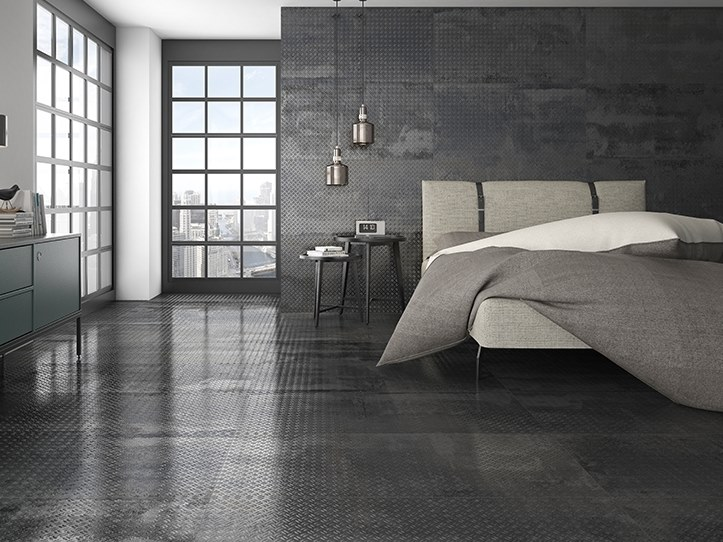Porcelain wall/floor tiles with metal effect OXIDE by ITT Ceramic