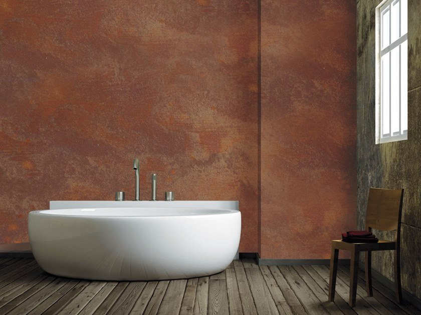 Paint effect Corten steel, copper and zinc OXYDECOR® by Isoplam