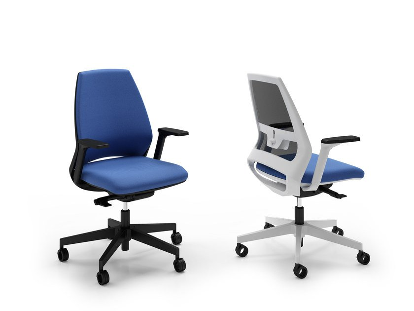 Task chair with 5-Spoke base OXYGEN | Task chair by Quadrifoglio