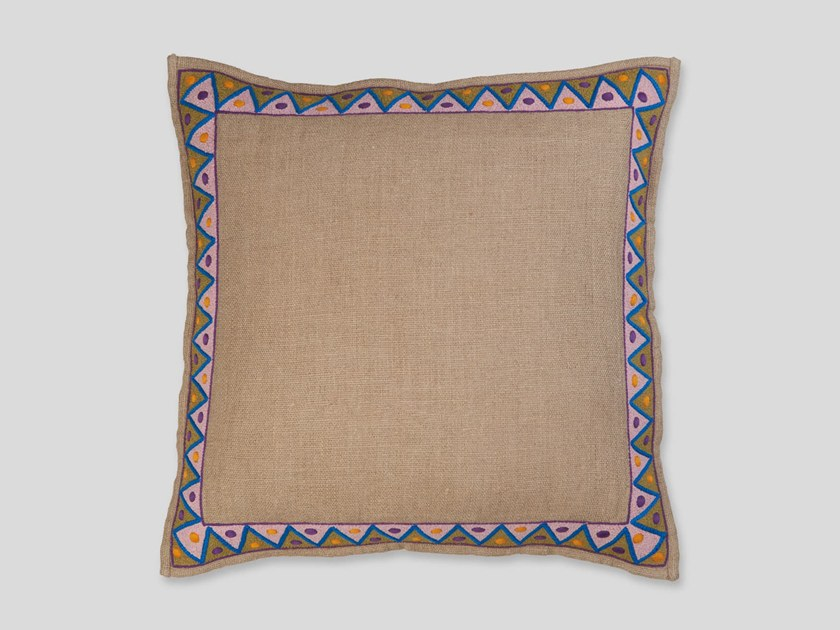 Hand embroidered cushion OYU by Jupe by Jackie
