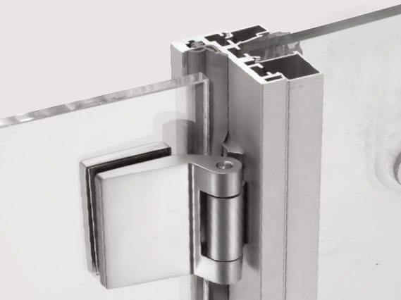 Aluminium frames with fixed side panels P-080-V by Metalglas Bonomi