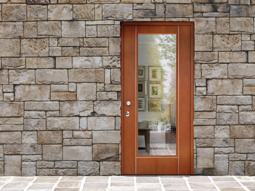 Wood and glass safety door SUPERIOR - 16.5041 M16 by Bauxt