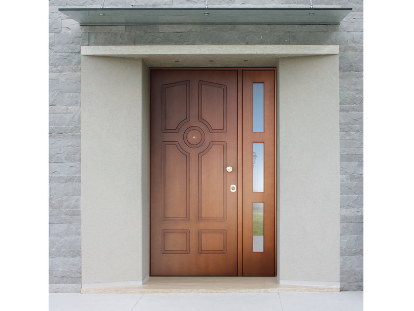 Okoumé safety door SUPERIOR - 16.5077 M16 by Bauxt