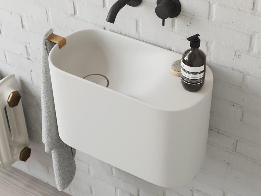 Wall-mounted Korakril™ handrinse basin P'TIT | Wall-mounted handrinse basin by Rexa Design