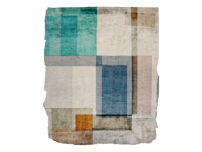 Handmade silk rug P08 IN COMMON (EXCELSIOR LOWE EDIT) CUT by HENZEL STUDIO